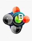 Kružnice geometrická šablona pozadí pro webový nápis, obchodní prezentace, branding, Tapeta