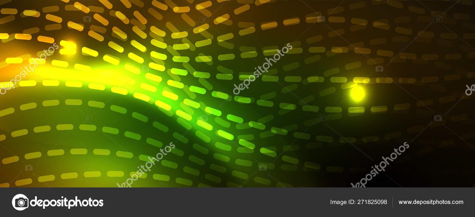 光沢のあるネオンラインテクノ魔法未来的な背景 魔法のエネルギー空間