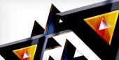 glänzend glänzende Dreiecke Hintergrund
