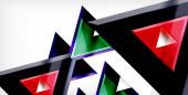 Dynamisches Dreieck Komposition abstrakter Hintergrund