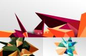 Set von 3D-Low-Poly-geometrischen Formen abstrakte Hintergründe