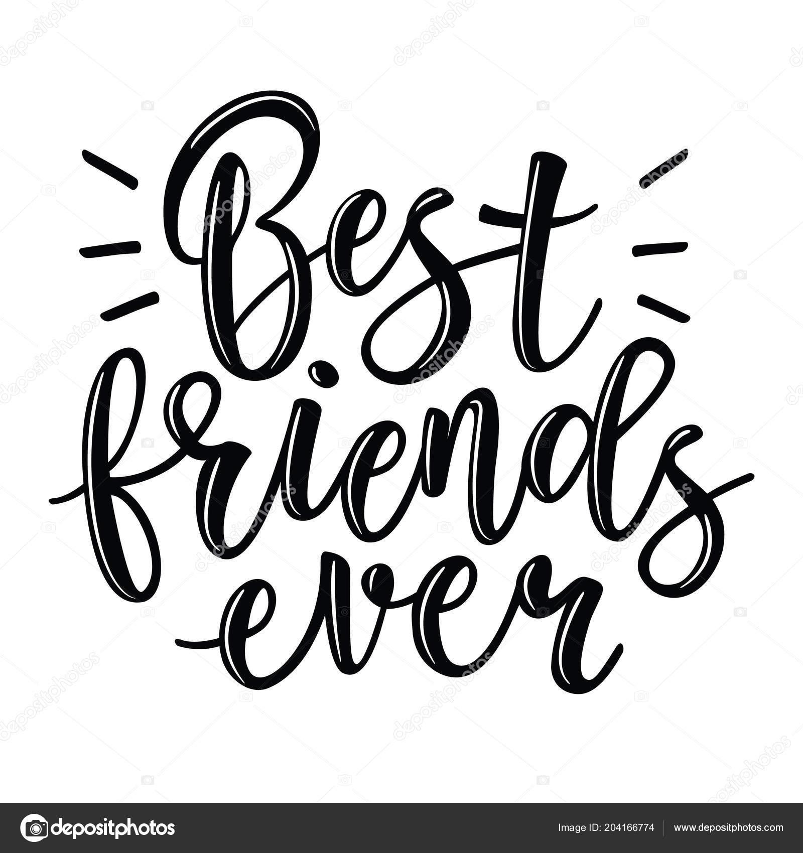 7e9badc44e4b Лучшие друзья вектор надписи — Векторное изображение © Volchonok ...