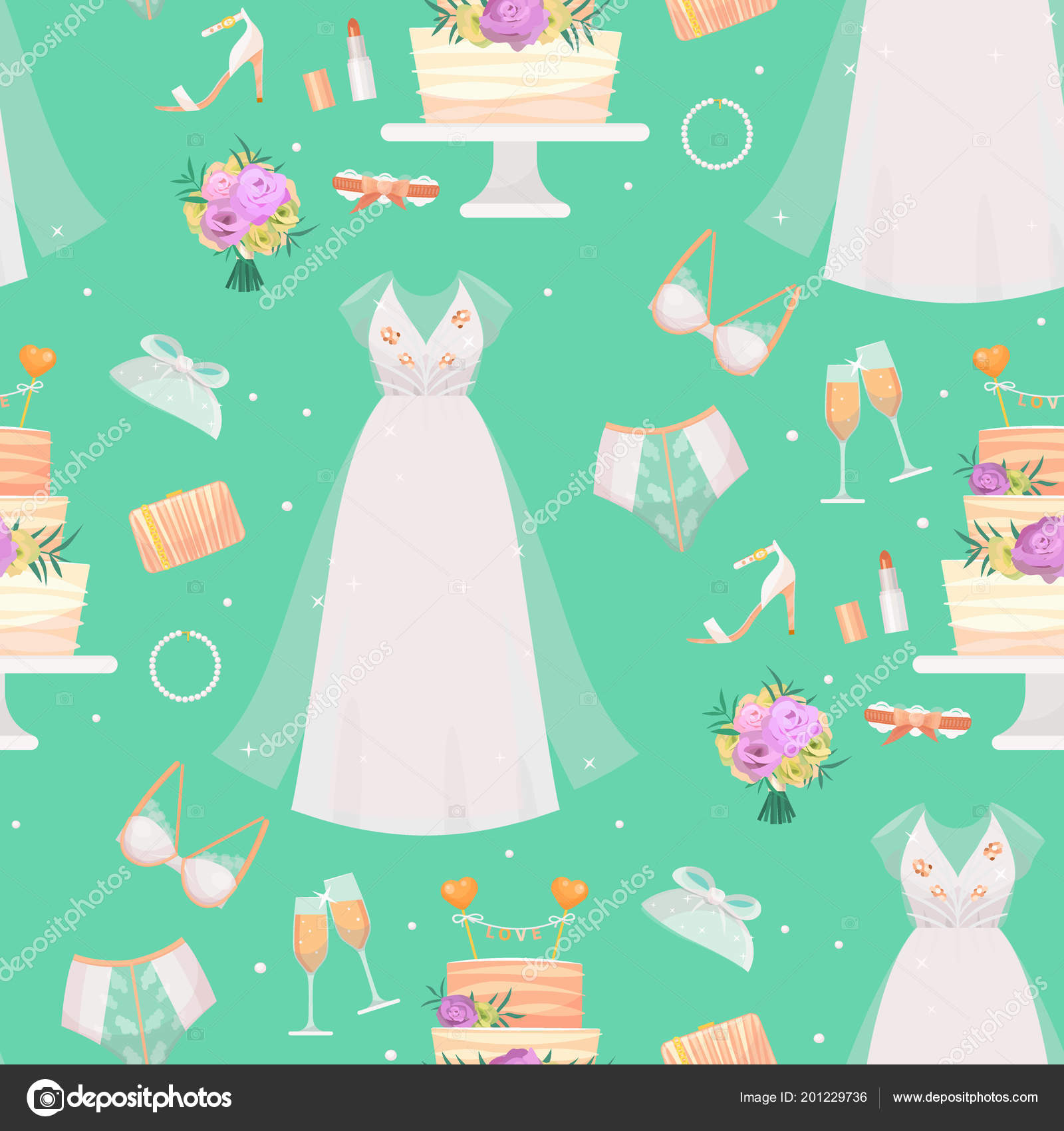 wedding bride dress accessories vector fashion style bridal shower sketch decor cartoon silhouette portrait illustration invitation design look female