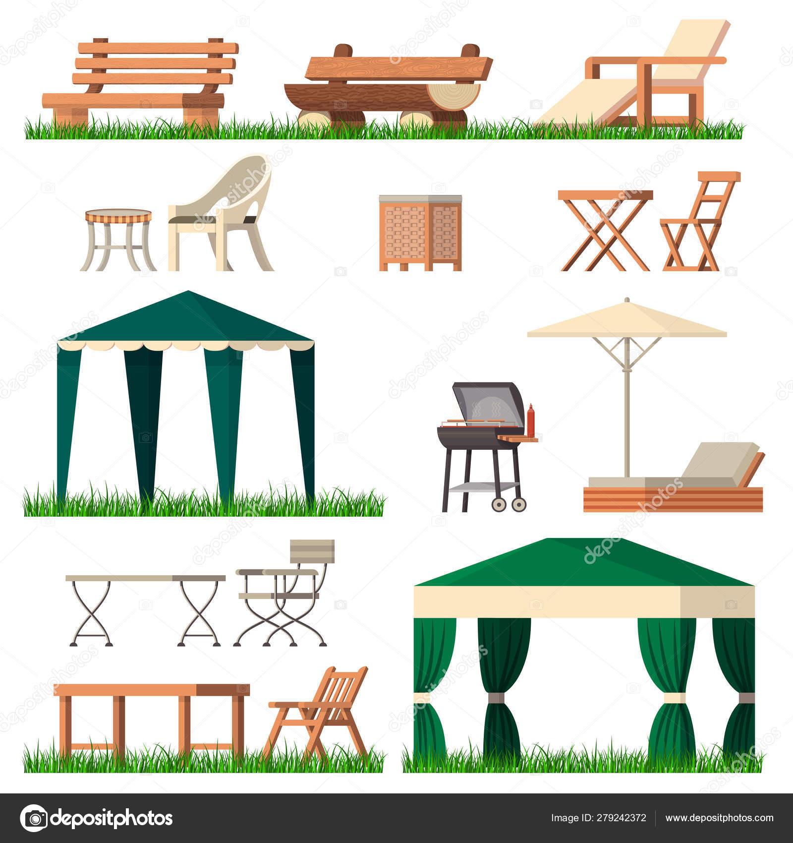 Muebles De Jardín Interior Carpa Silla De Mesa Asiento En El