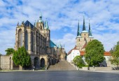Fotografie Dom hill of Erfurt Germany