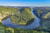 Fotografie famous river saar loop in Orscholz