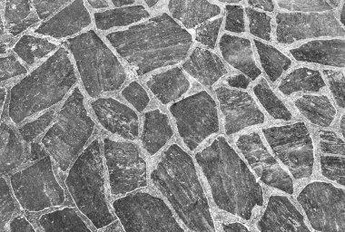 Harmonic pattern of slate tiles at the floor stock vector