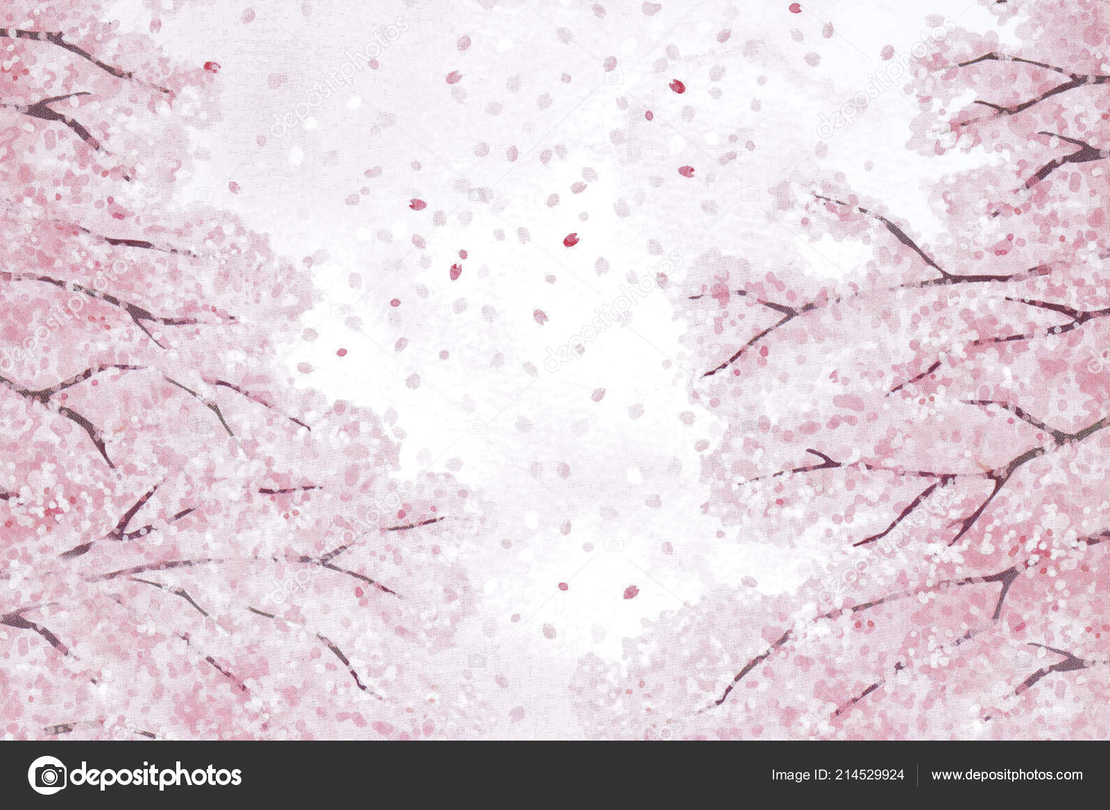 Pink Flowers Japanese Cherry Blossoms Texture Background Stock