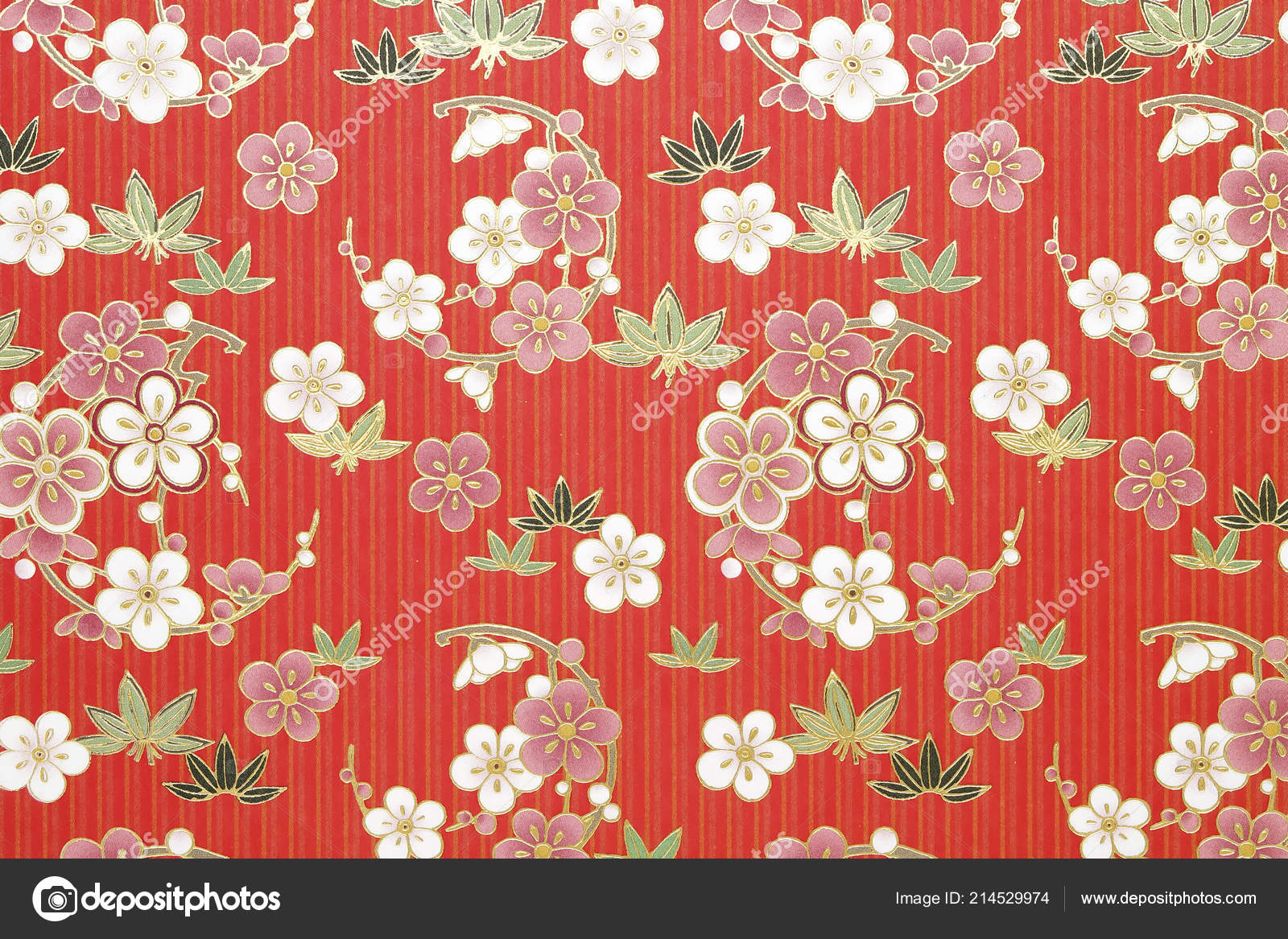 Traditional Japanese Pattern Origami Paper Texture Background