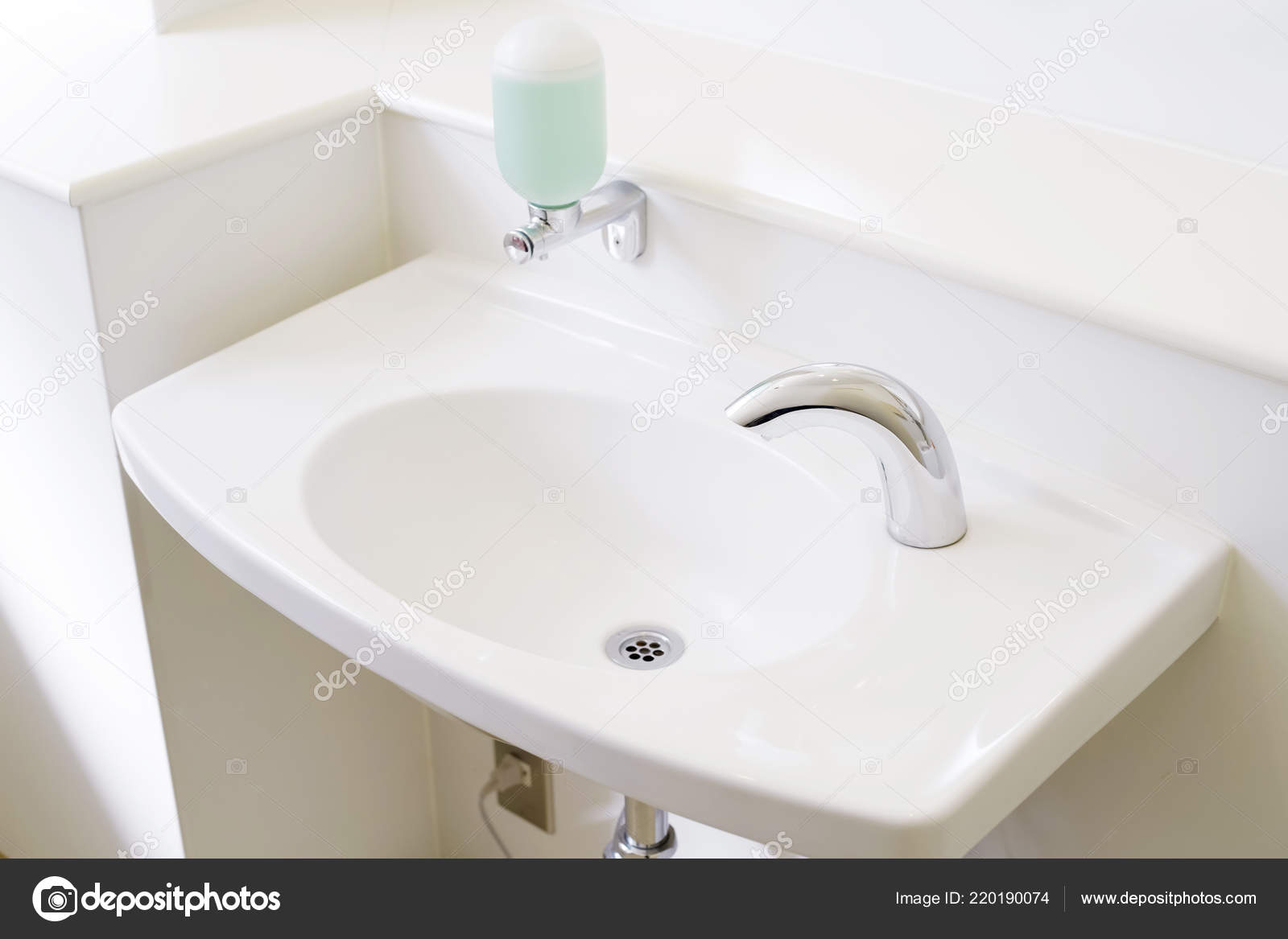 Toilette Waschbecken Interieur Der öffentlichen Toilette Mit