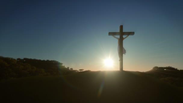 Jézus kereszt napkeltekor, 4k