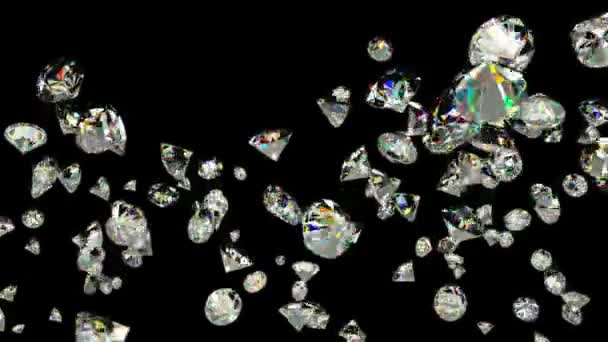 Létání v pomalém pohybu proti černé diamanty