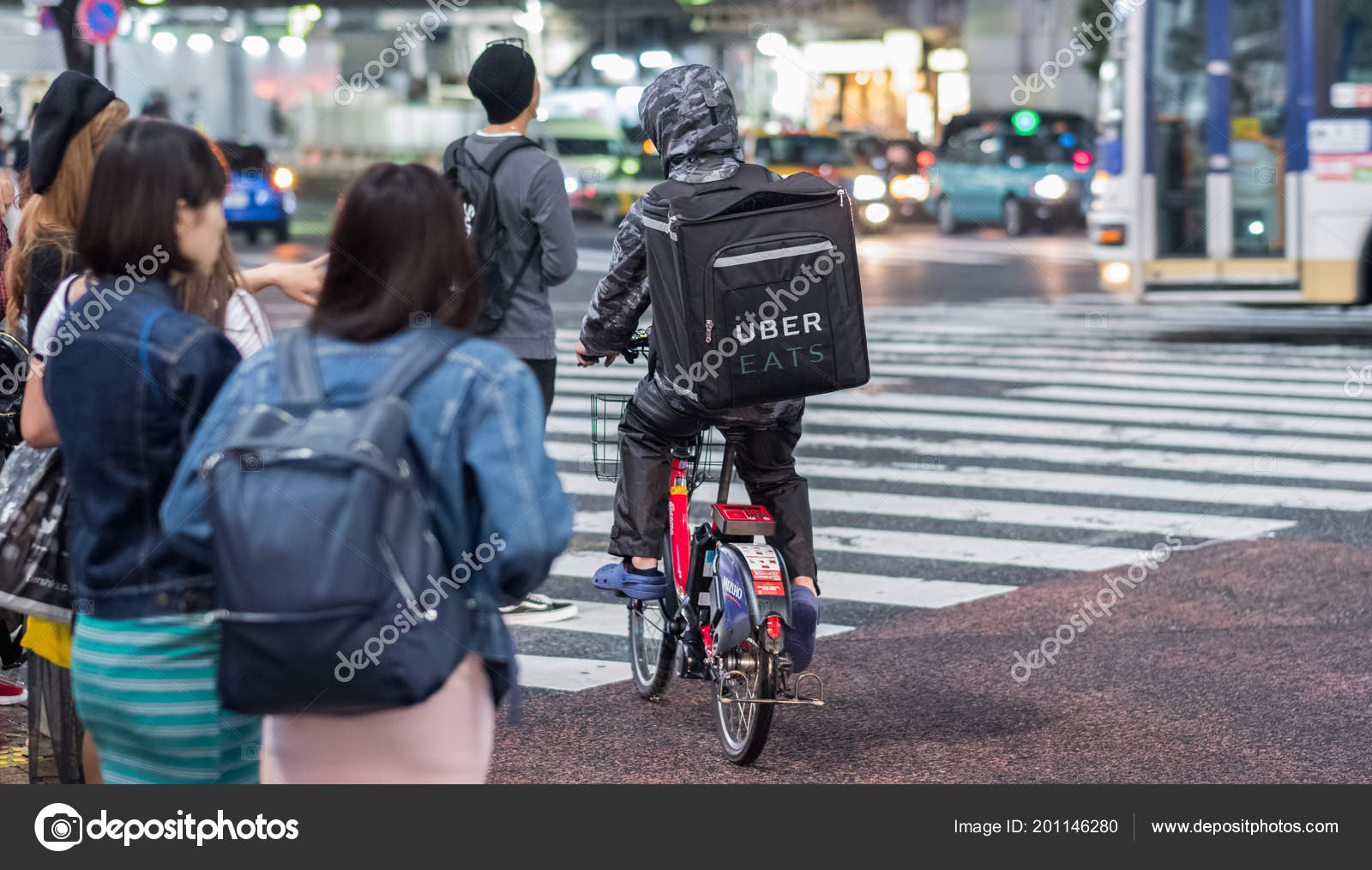 tokyo japan june 23rd 2018 uber eats food delivery services – stock