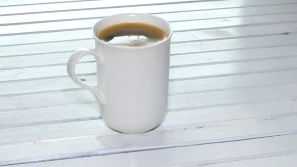 Mug of tasty fresh coffee