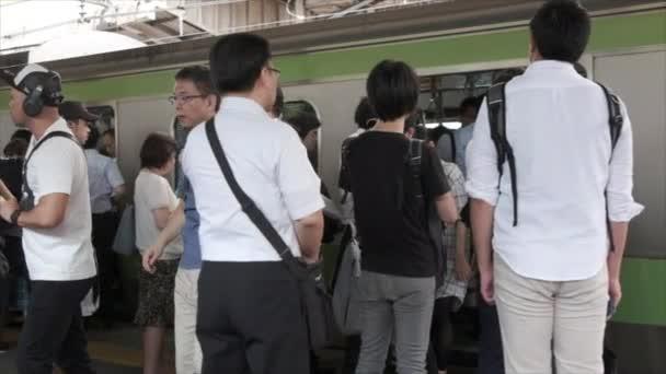 TOKYO, JAPAN - JUNE 30TH, 2018. Commuters  at Japan Railway Shinjuku Station.