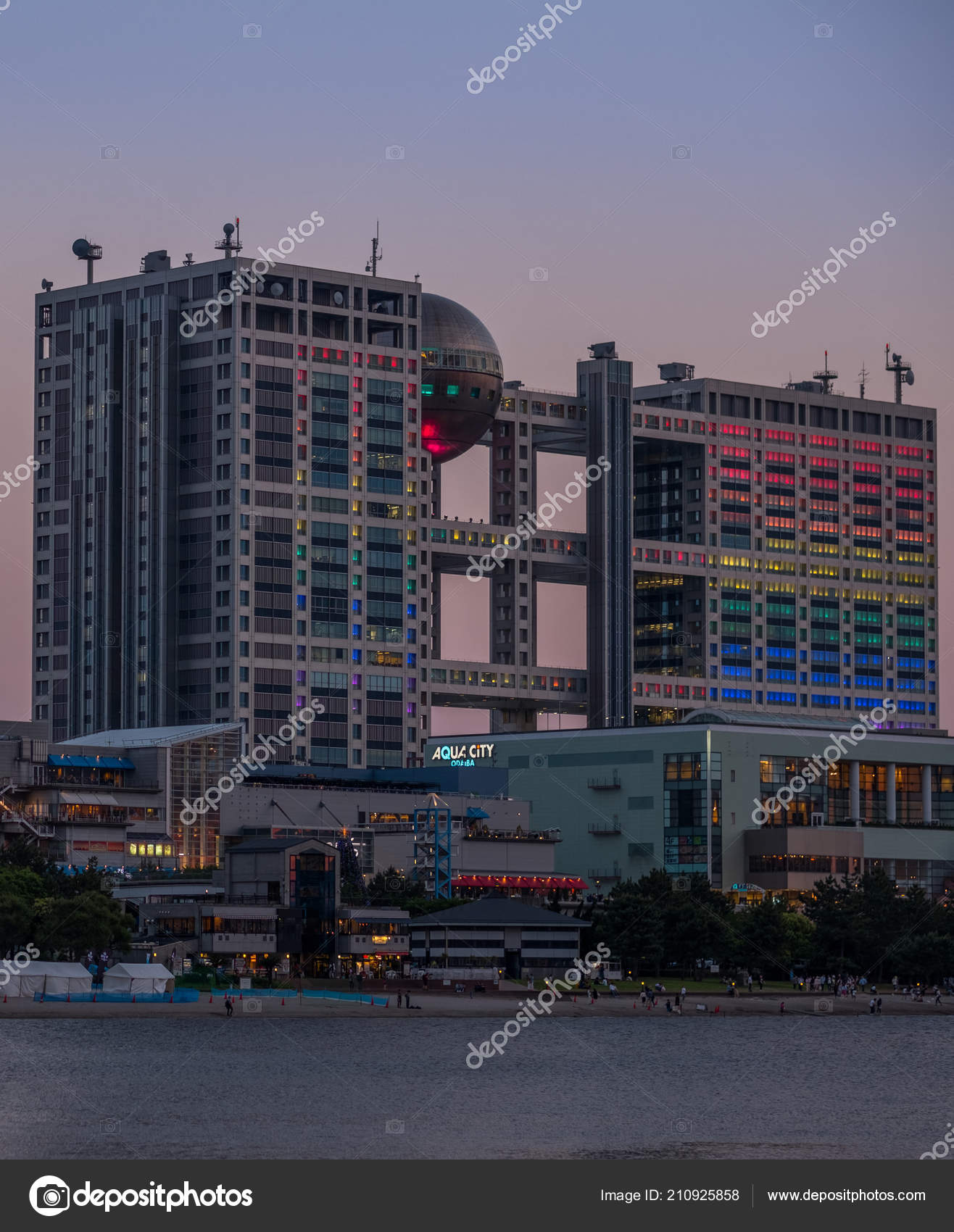 Skyline View Tokyo Cityscape Sunset Fuji Building – Stock Editorial