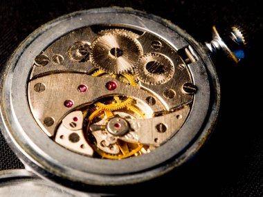 old clockwork gears, vintage watch