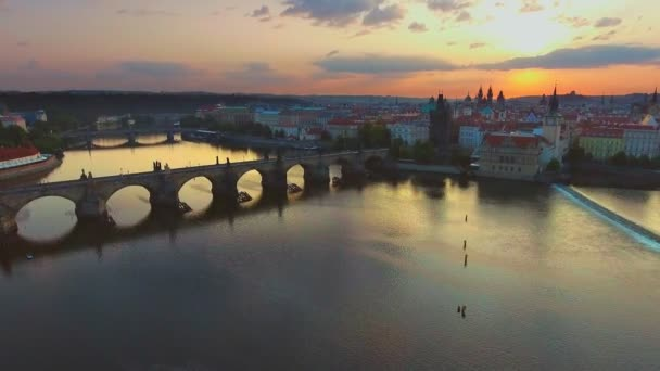 Bridges of Prague including the famous Charles Bridge, Czech Republic, Europe