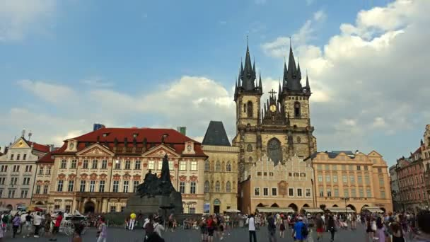 The gothic Church of Mother of God in front of Tyn in Old Town Square in Prague, Czech Republic