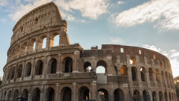 The Colosseum or Coliseum timelapse, Flavian Amphitheatre in Rome, Italy