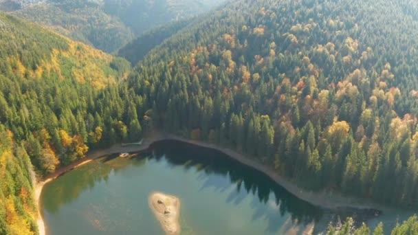 Aerial video of beautiful Blue Lakes in Ukraine. Travel destination in Europe