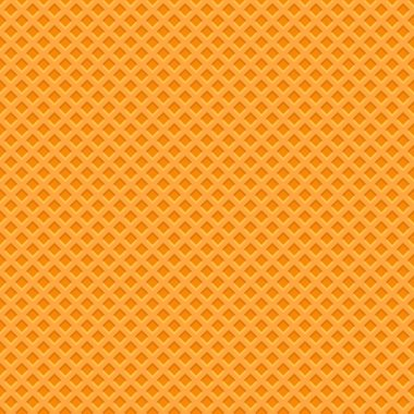 Yellow Waffle Texture Pattern. Seamless Background. Vector