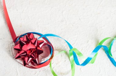 Colorful ribbons for decoration of holiday presents