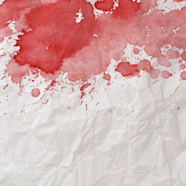 bloody stains on white background