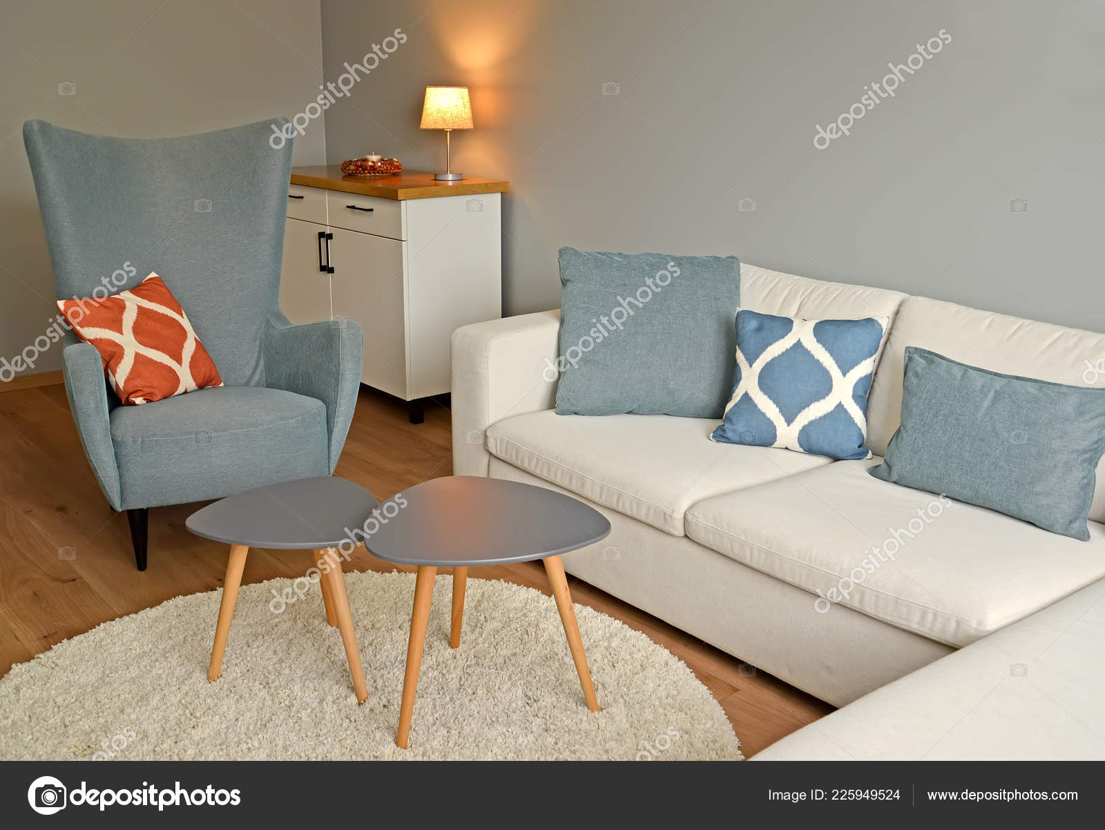 Sofa Chair Living Room Interior Scandinavian Style Stock Photo by ...