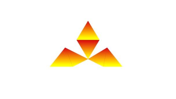 Proces čerpání srdce v polygonální technikou. Symbol a metafora lásky. Video