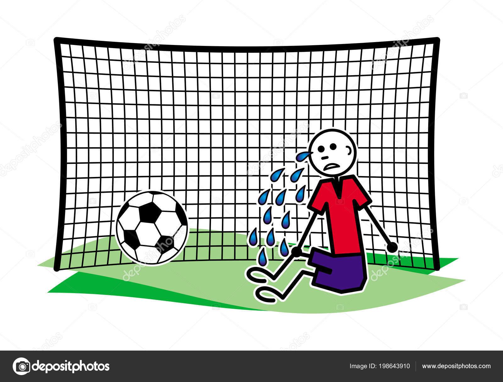 cartoon football goal
