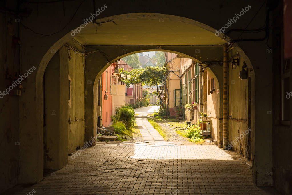 Фотообои Sighisoara city in romania august 8, 2019