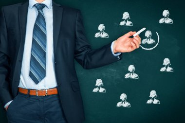 Recruiting and hiring human resources concept