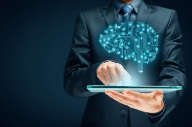 Artificial intelligence, data mining, expert system software and another modern computer technologies concepts