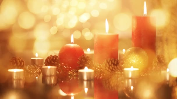 Christmas and New Year holiday decorations. Candles.