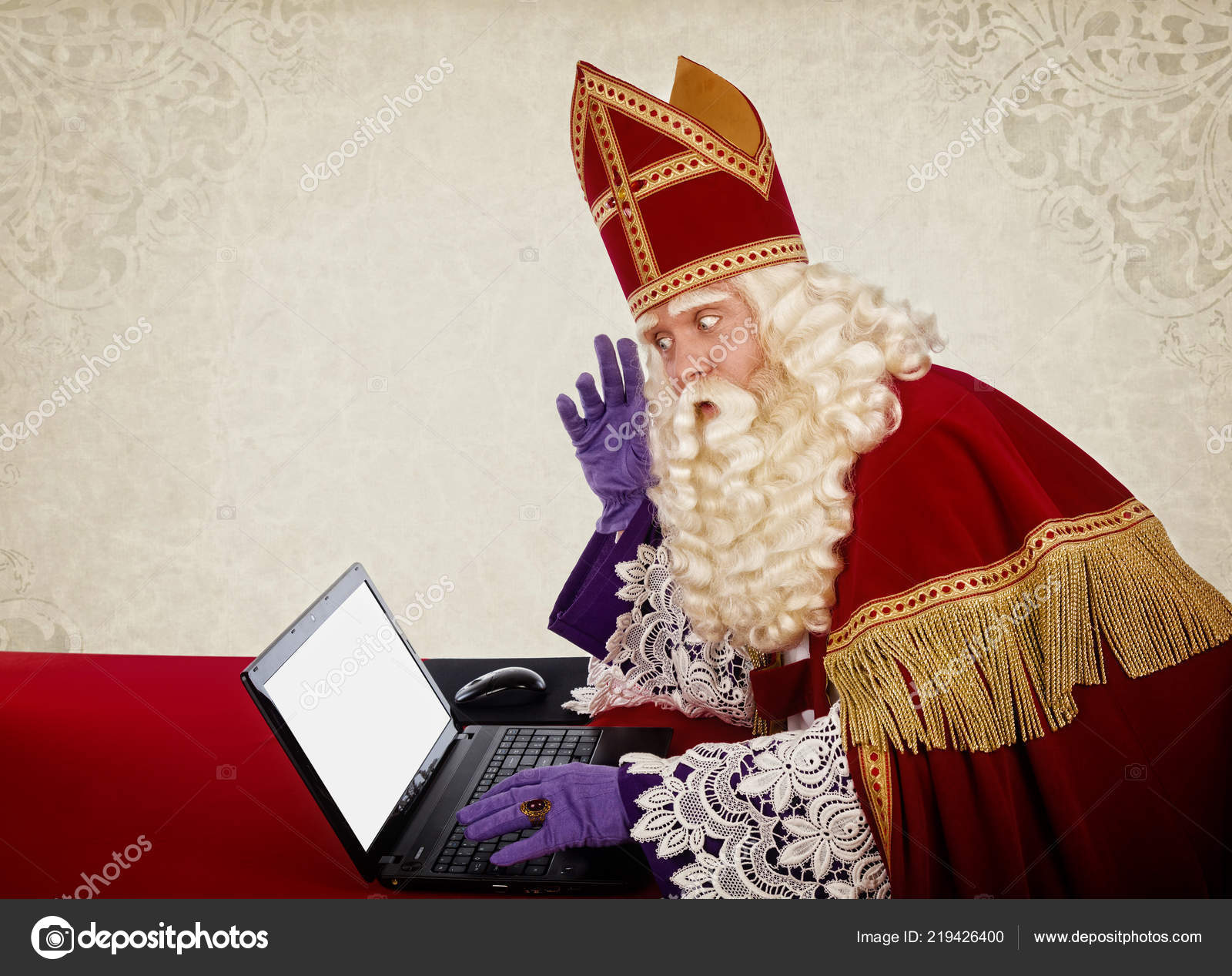 4a88113e7facf Sinterklaas Looking Notebook Vintage Look Dutch Character Santa Claus —  Stock Photo