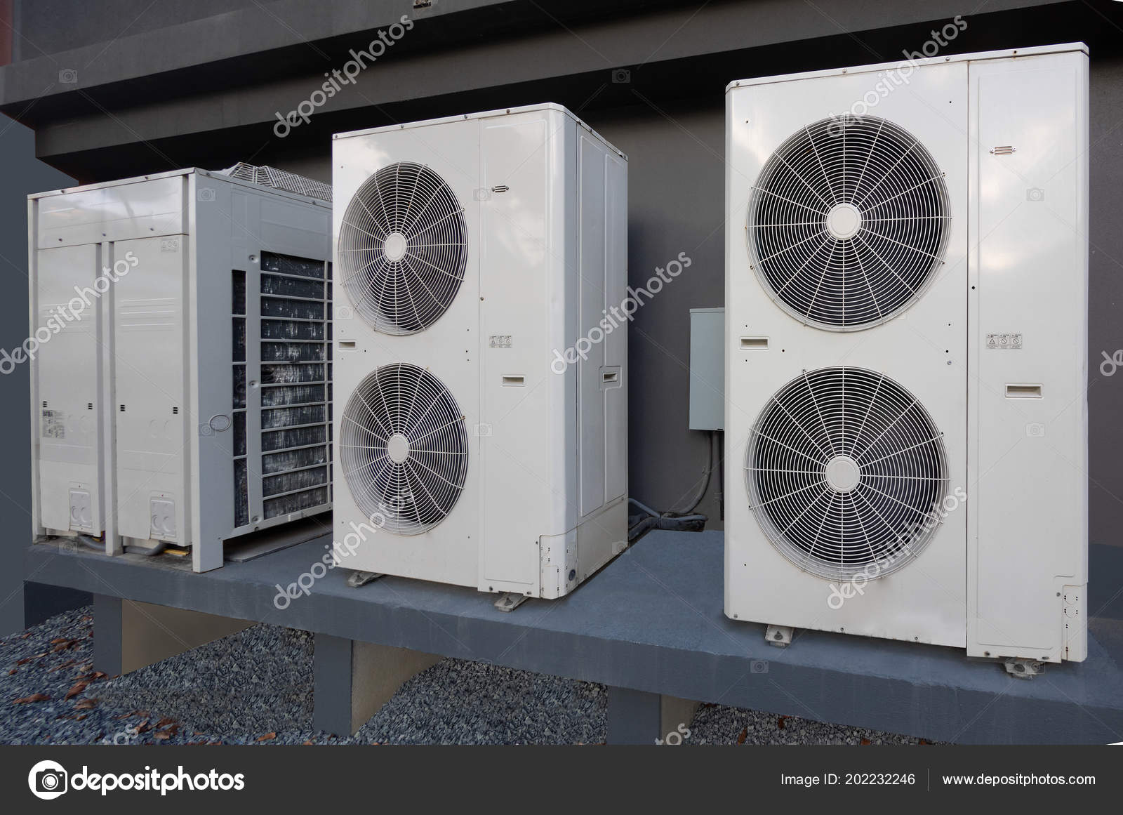 Air Conditioning Units Apartment Complex — Stock Photo ...