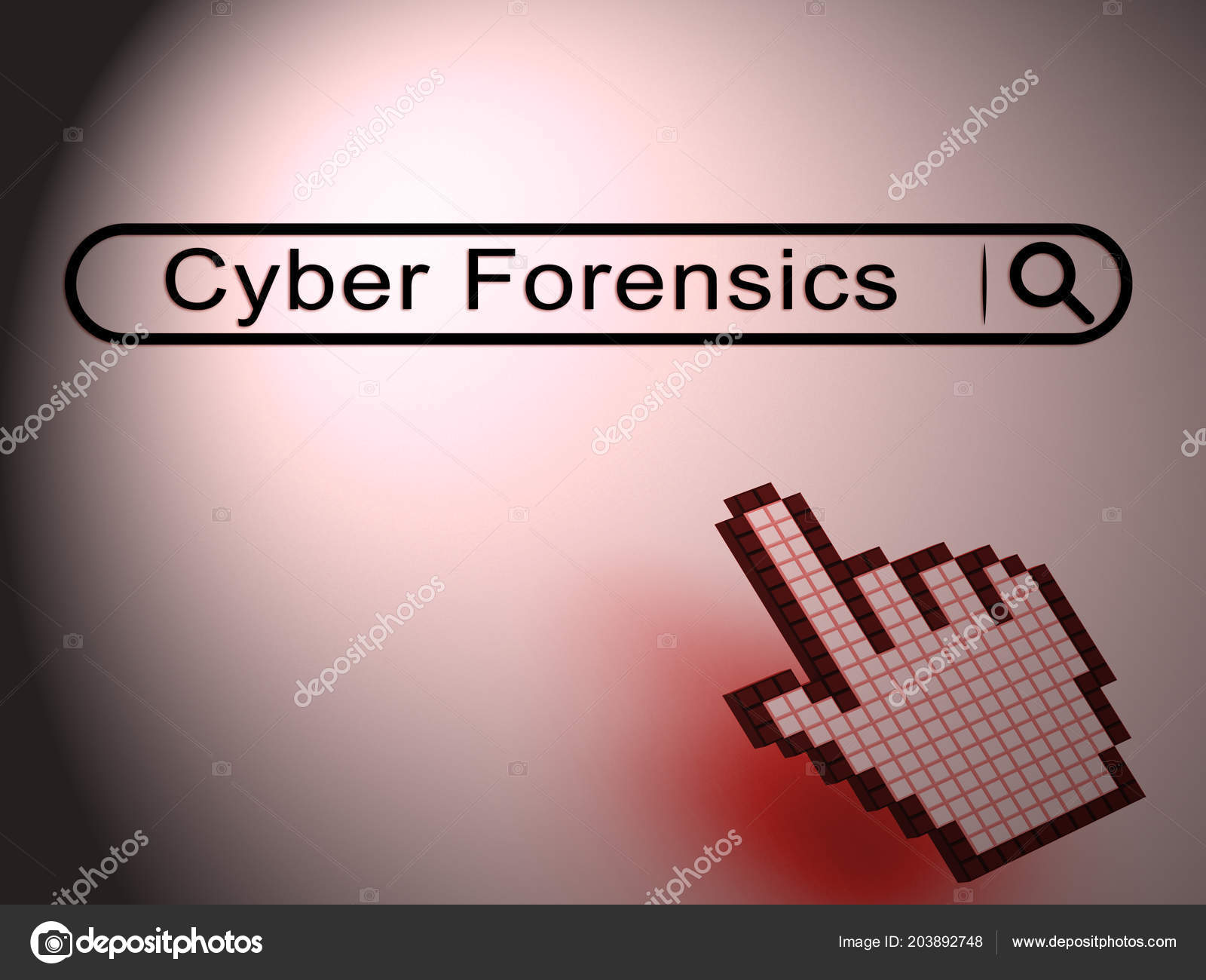 Cyber Forensics Computer Crime Analysis Illustration Shows