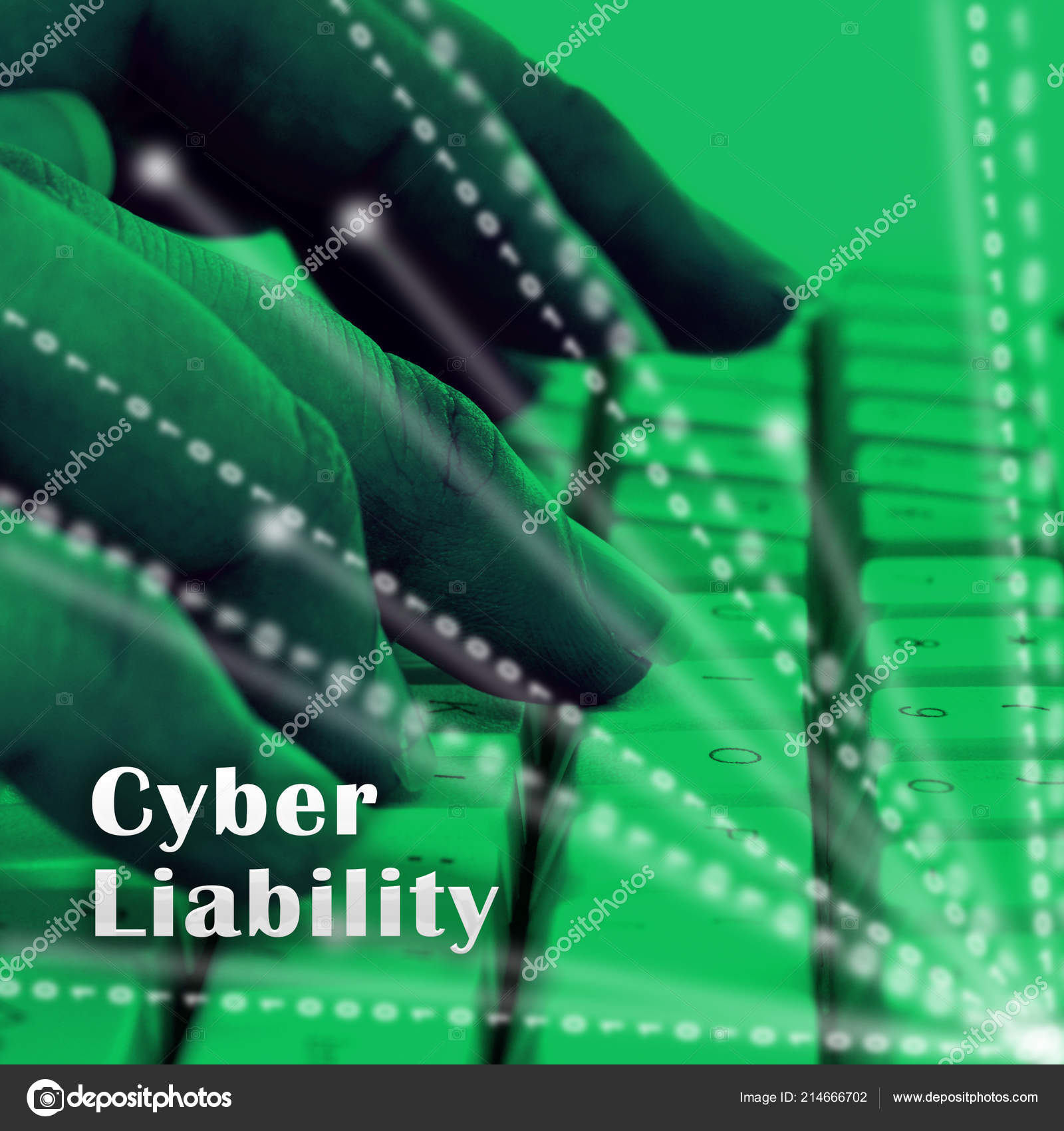Cyber Liability Insurance Data Cover Illustration Shows Internet