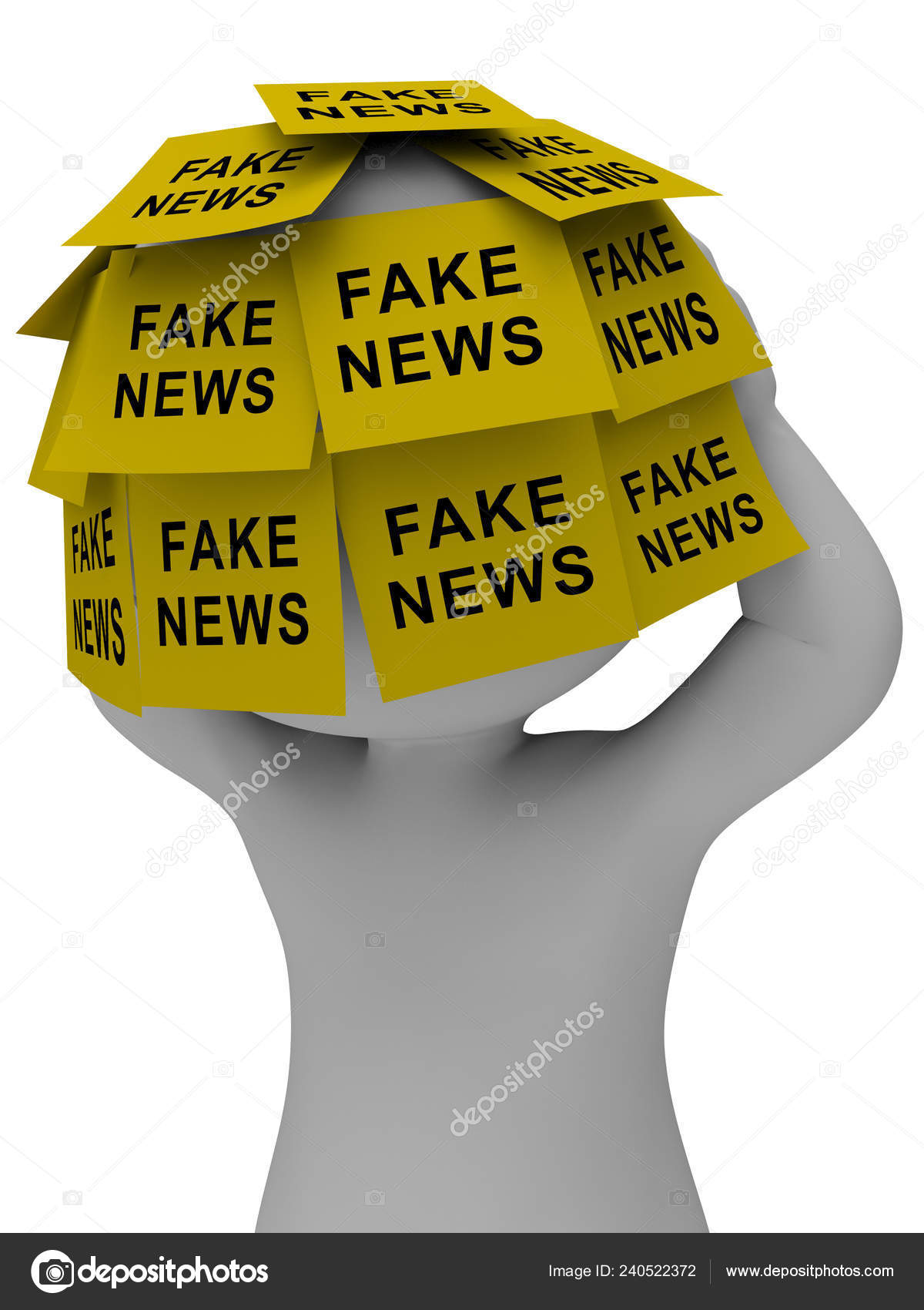 Fake News Icon Stickers Means Misinformation Disinformation Online