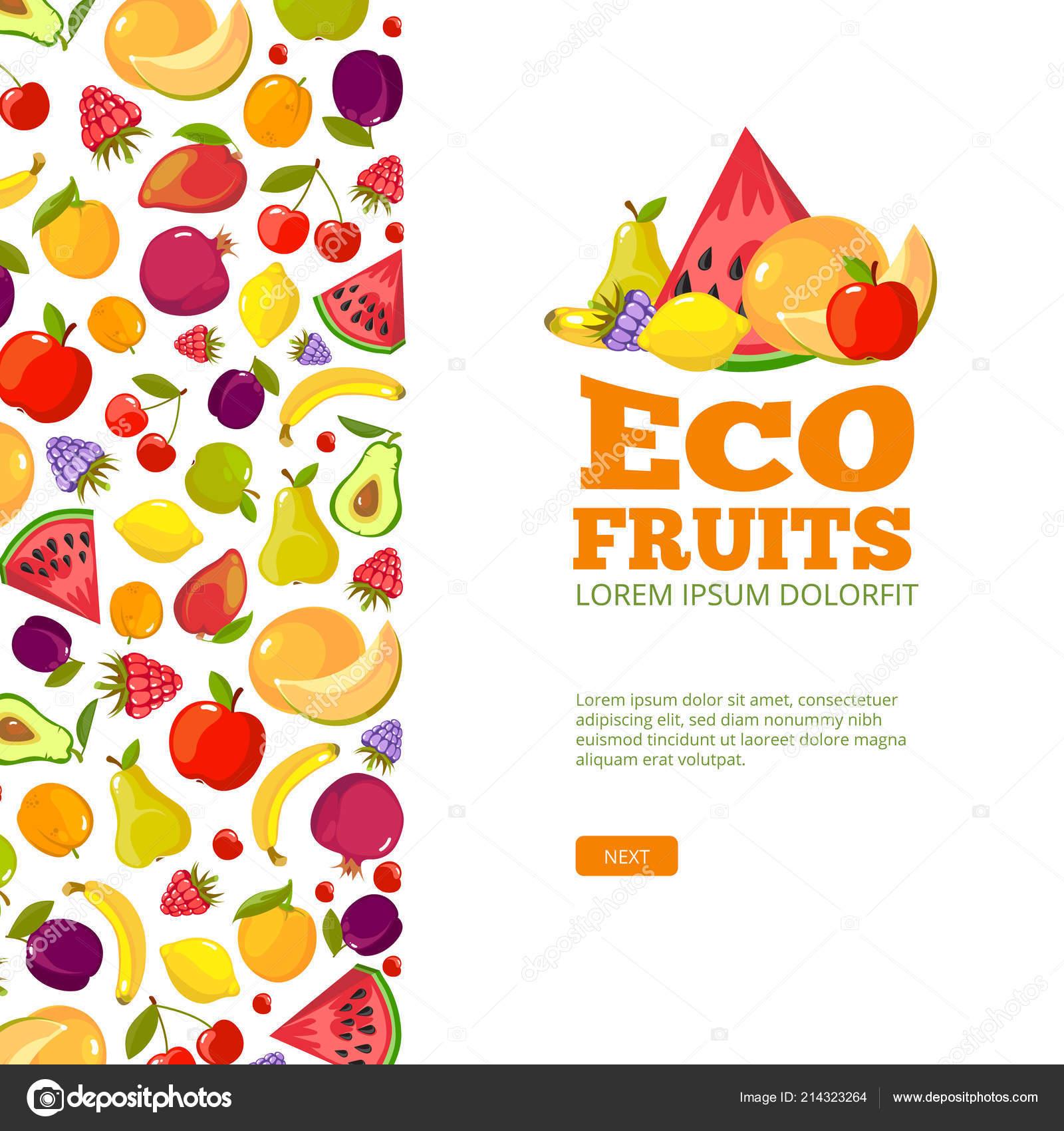 果物の背景のテンプレート 新鮮な健康食品りんご ストックベクター