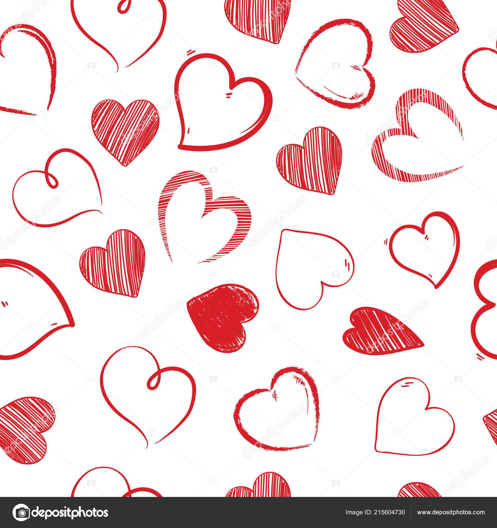 3e79572cd3ab9b Amo sealess padrão de corações. decorativo lindo dia dos namorados ...