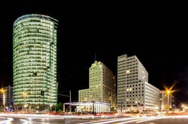 Berlin city, skyline at the Potsdamer platz financial district at night, Germany