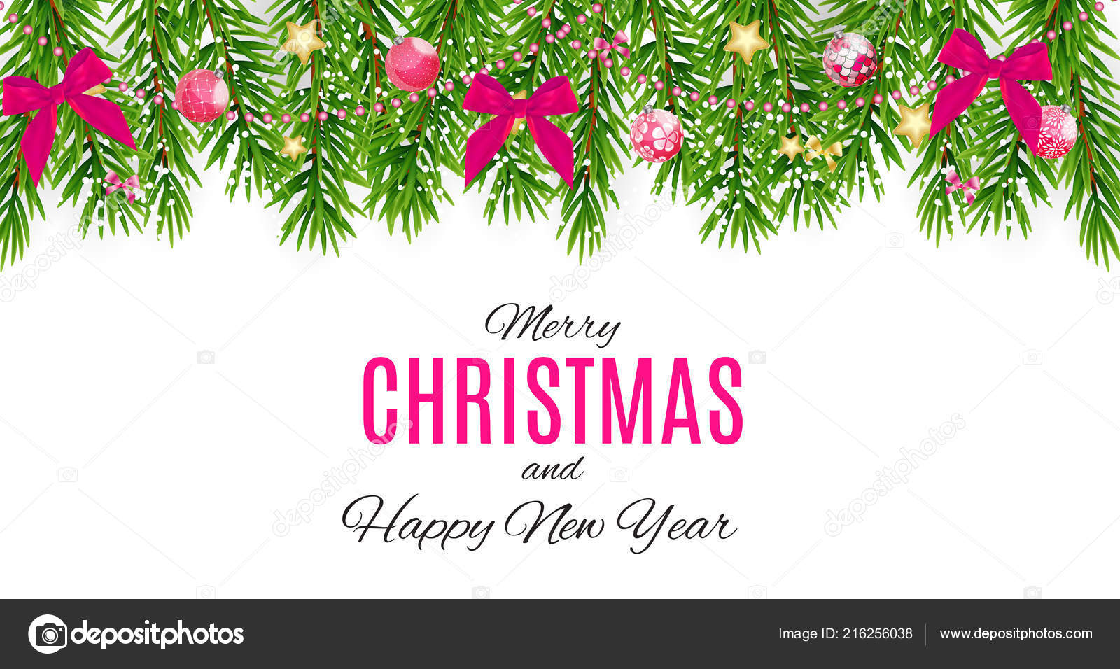 merry christmas and new year background vector illustration stock vector