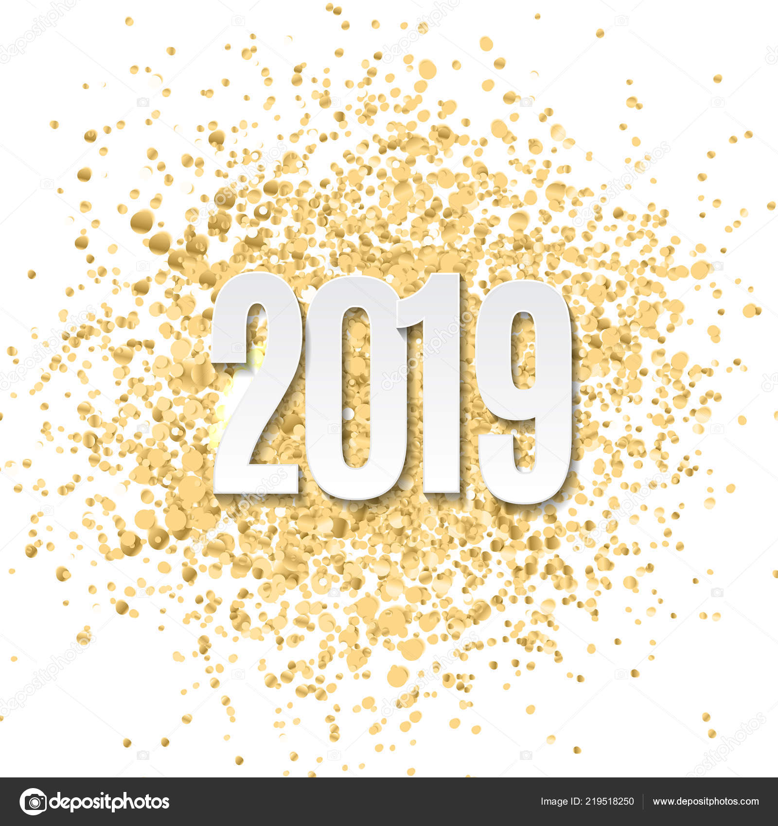 Happy New Year 2019 Background. Vector Illustration — Stock Vector ...