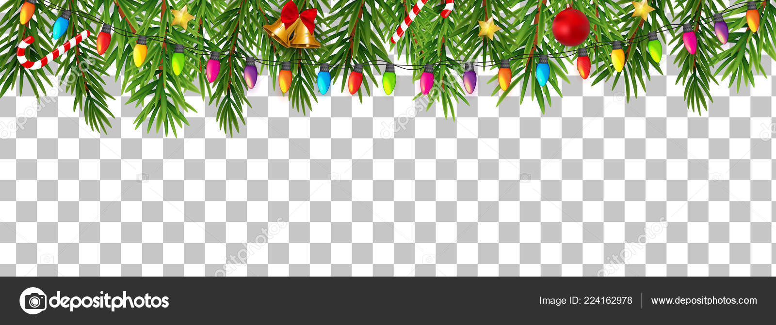 Merry Christmas No Background.Abstract Holiday New Year And Merry Christmas Border On