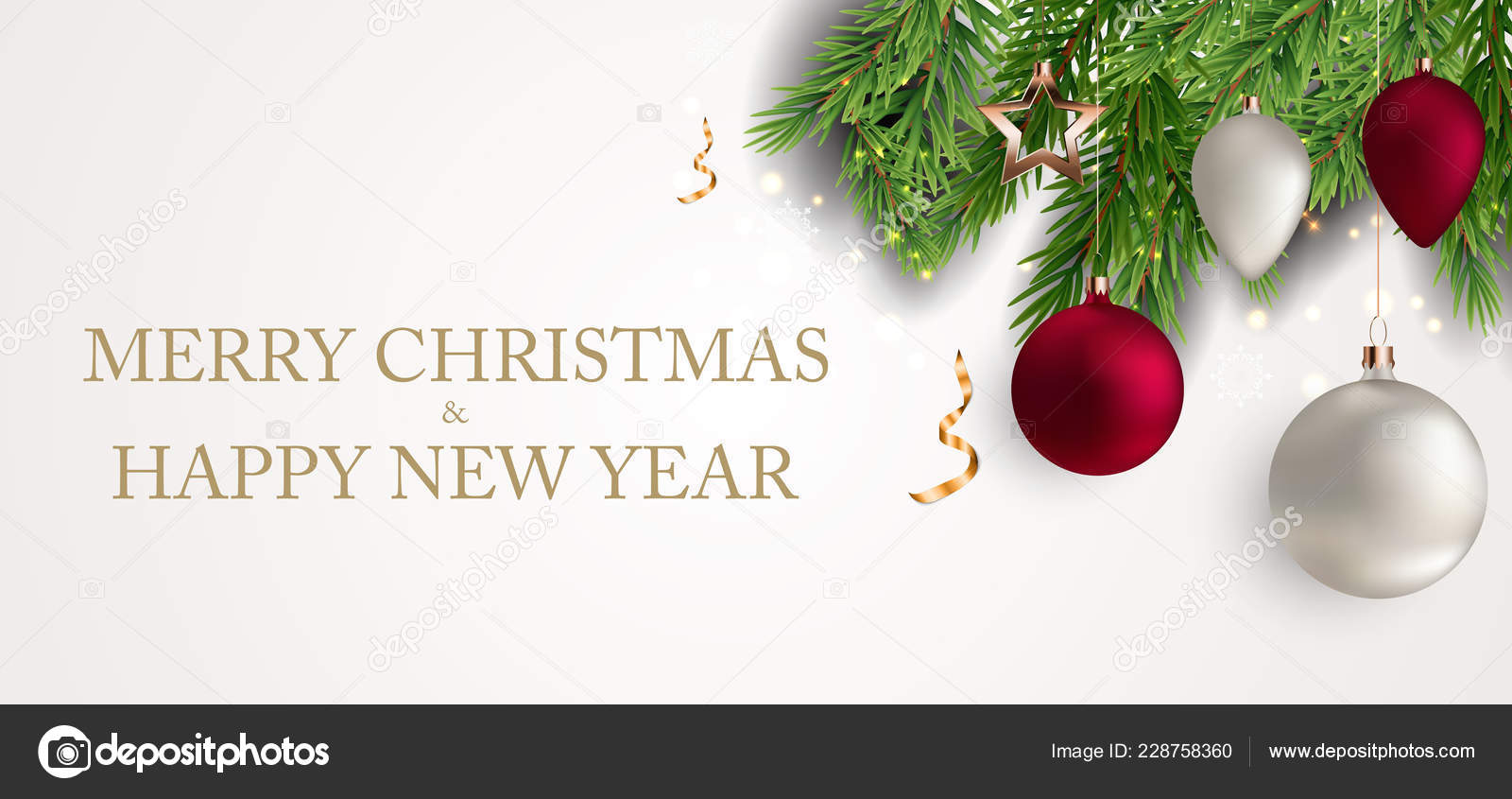 merry christmas new year background vector illustration eps10 stock vector