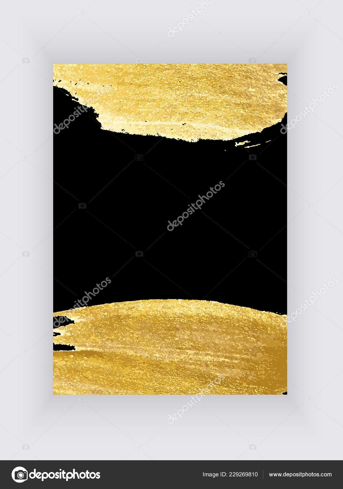 Black Gold Design Templates Brochures Banners Golden