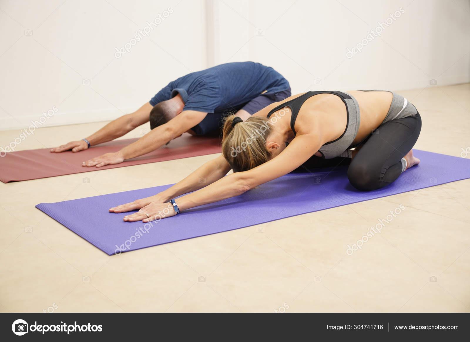 Couple Doing Fitness Exercices Gym Stock Photo C Goodluz 304741716