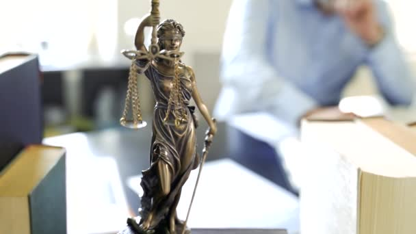 Lady Justice Statue in lawyers office